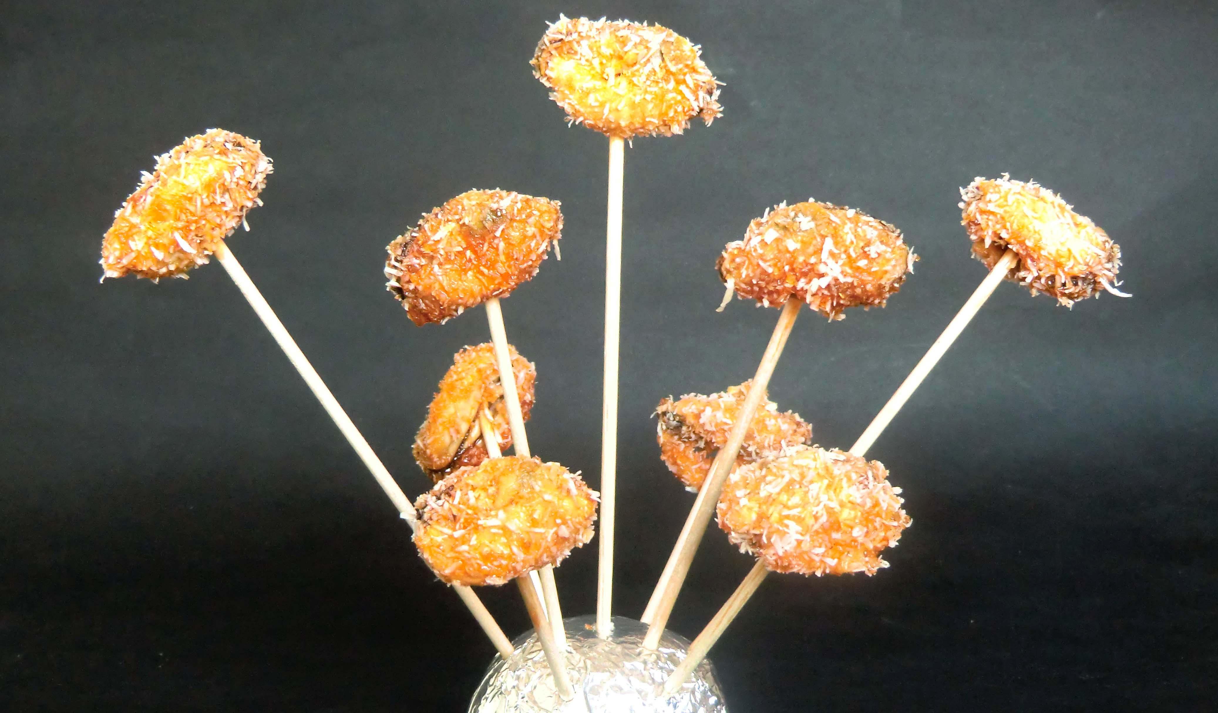 Chupachups de mejillones