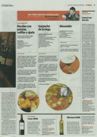 Conservas Serrats en El Diario Vasco - David de Jorge