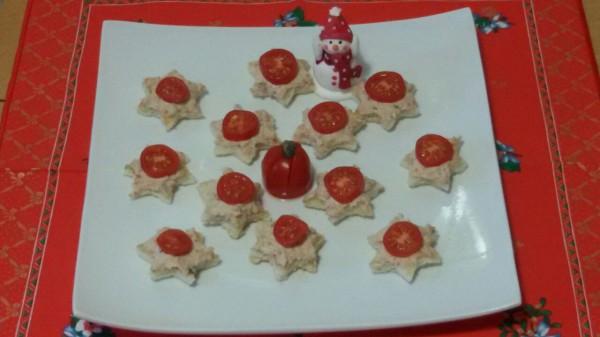 Canapé navideño Estrellas