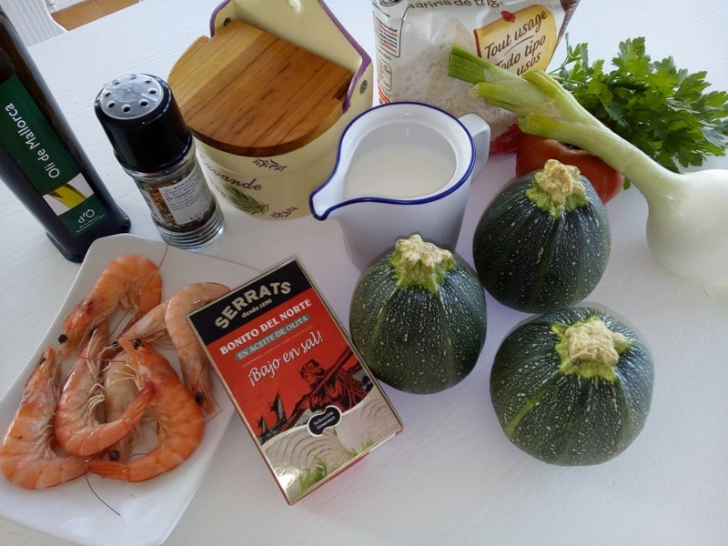 Calabacines rellenos: ingredientes