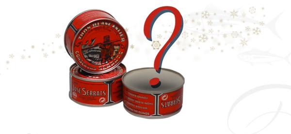 Lata sorpresa con premio por comprar en Conservas Serrats